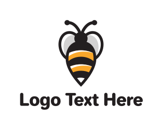 Wasp - Bee logo design