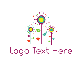 Fest - Colorful Garden logo design