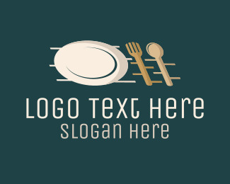 Caterer - Kitchen Cutlery logo design
