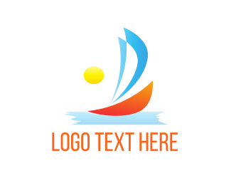 Water Sports - Sunny Sailboat  logo design