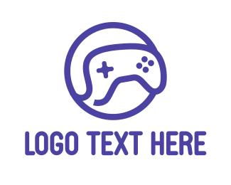 Clan - Blue Outline Gaming logo design