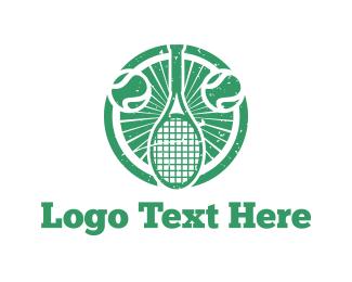 Racket - Tennis Emblem logo design