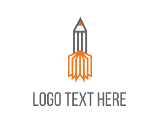Page - Pencil Rocket  logo design
