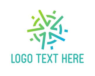 Center - Mint Star logo design