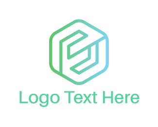 Letter E - Hexagonal E logo design