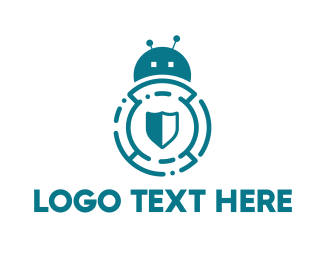 Ai - Bug Shield  logo design