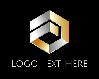 Engraved - Metallic Hexagon logo design