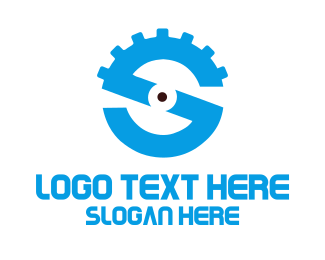 Cog - Gear Letter S logo design