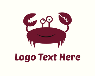 Crustacean - Crab Cartoon logo design