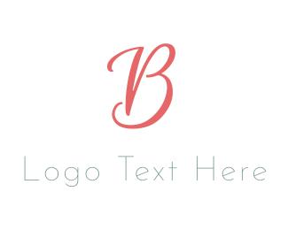 Elegant Coral Letter B Logo