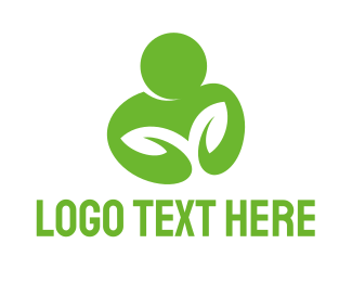 Man - Green Man logo design