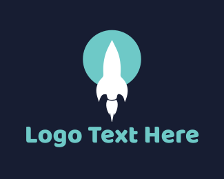 Bomb - White Rocket logo design