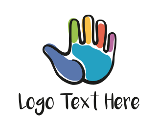 Oil - Hand Painting logo design