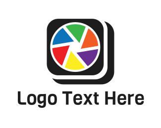 App - Colorful Camera App logo design