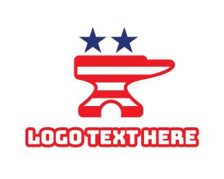 Blacksmith - Iron USA logo design