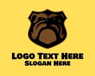 Bulldog - Bulldog Plaque logo design