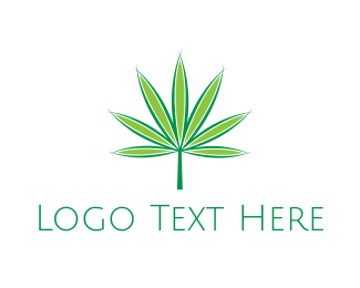 Weed - Marijuana Leaf logo design