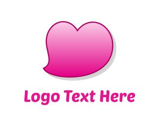 Friendship - Pink Heart logo design