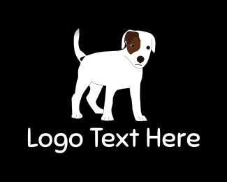 White - White Dog logo design