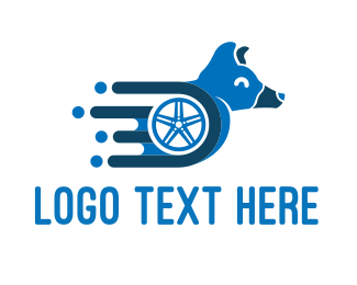 Express - Dog Wheelchair logo design