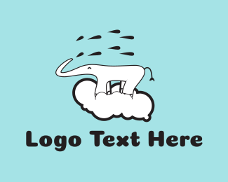 Child Care - Elephant Cloud logo design