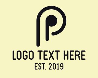 Letter P - Minimalist Letter P logo design