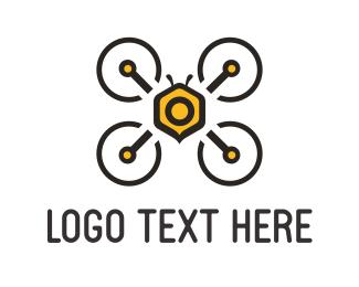 Photo - Bee Drone logo design