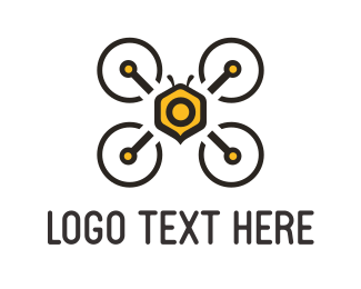 Photography - Bee Drone logo design