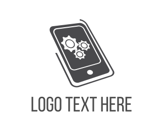 Pc - Mobile Engine logo design