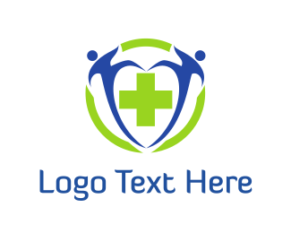 Emergency - People & Green Cross logo design