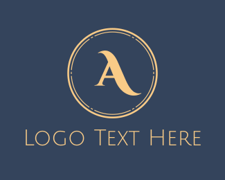 Elegance - Elegant Gold Circle logo design