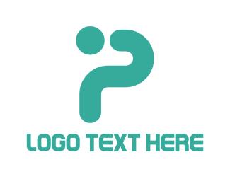 Mint Letter P Logo