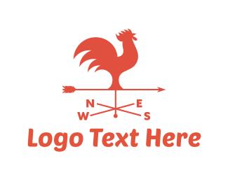 Farm - Rooster Weathervane logo design