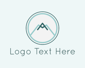 Letter A - Mountain Circle logo design