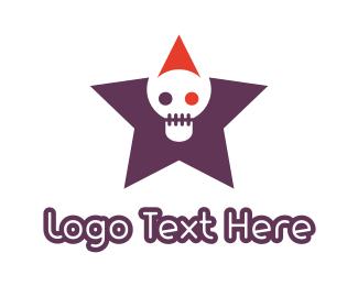 Death - Skull Star logo design