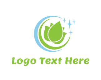 Cleaner - Lotus Circle logo design