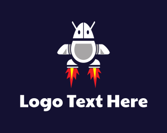 Plane - Mouse Rocket logo design