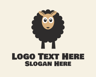 Farm Animal - Black Sheep logo design