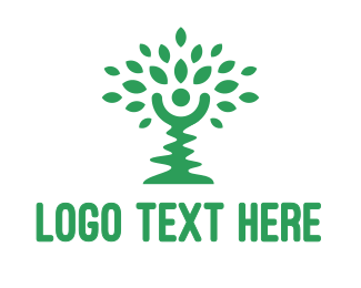 Allergy - Green Crooked Tree logo design