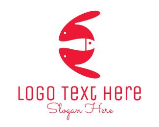 Rabbit - Rabbit & Fish logo design