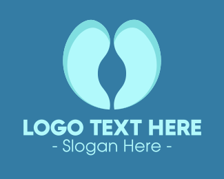 Lungs - Blue Lungs logo design