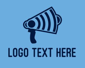 Megaphone - Wifi Megaphone logo design