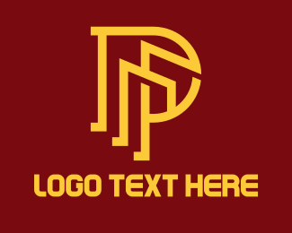 Establishment - Yellow Outline P Tower logo design