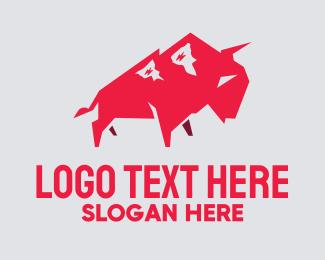 Ox - Polygon Bull logo design