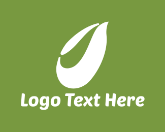 White - White Leaf logo design