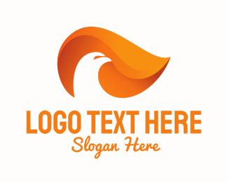 Negative Space - Fire Bird logo design