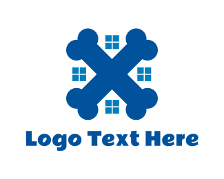 Pet - Blue Pet Home logo design