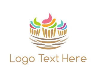 Sweets - Cupcake Nest logo design