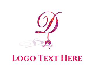 Classic - Floral D logo design