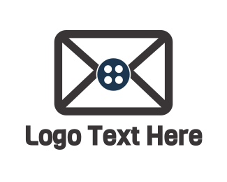 Mail - Button Mail logo design